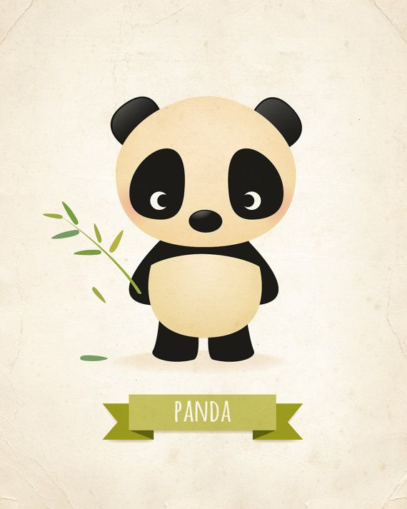 Nursery print, Panda print, children's illustration, animal art, baby room…