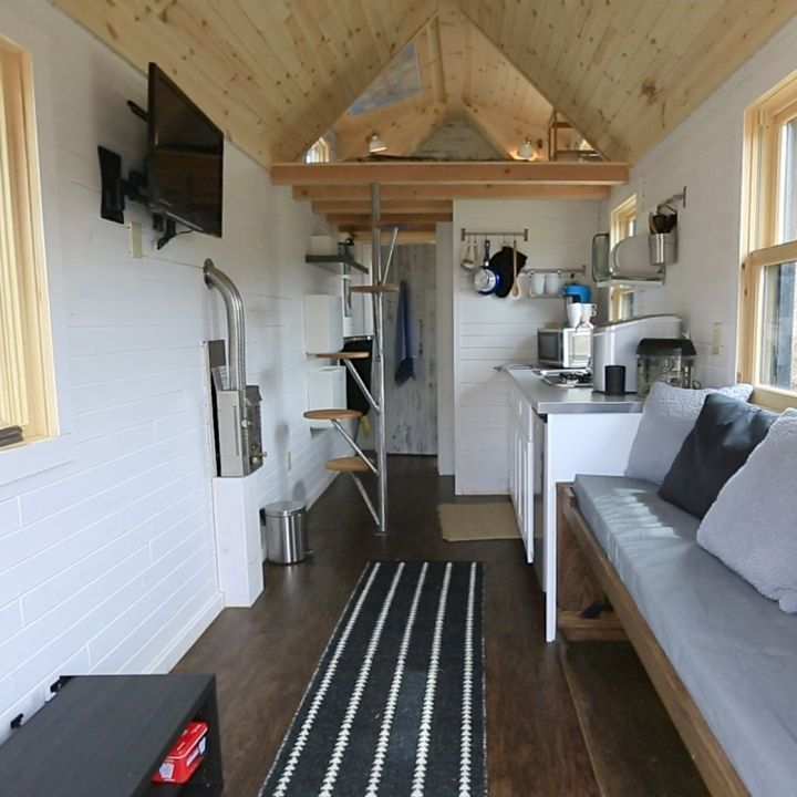 New england tiny house interior 2 interesting stairs for tiny houses pinterest wood - Tiny contemporary house interior ...
