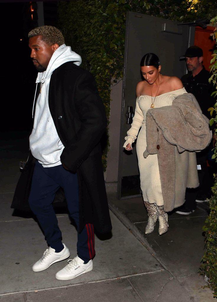 Kim & Kanye arriving at Bandera Restaurant in Los Angeles, CA - March 26, 2017