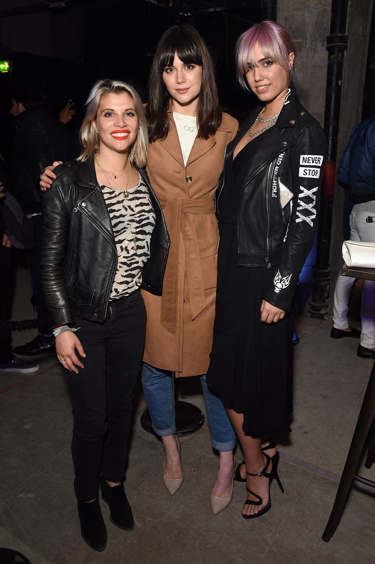Ladies, the party is about to start. From the left to the right: Pips Taylor, Lilah Parsons and Amber Le Bon.