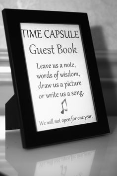 wedding time capsule - Google Search