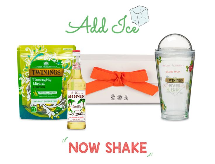 The ultimate al freso gift set. Create a Minty Mojito Iced Tea shake with our brand new Twinings Iced Tea Shaker.