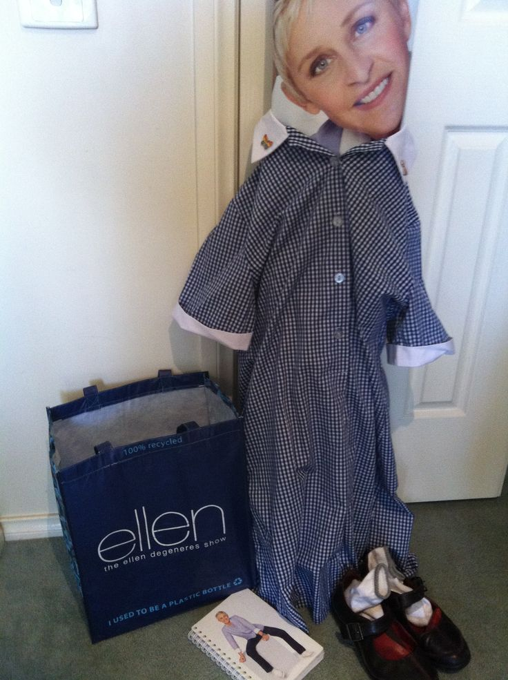 Its all lining up #Ellen for you to #doitinadress!! If the dress fits wear it I say!! #bagthatellen