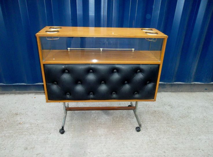 Details About Vtg 50s 60s 70s Retro Space Age Modernist Vinyl Drinks Cocktail Cabinet Home Bar