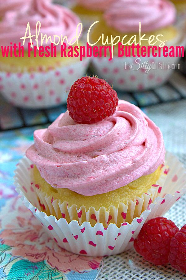 Almond Cupcakes with Fresh Raspberry Buttercream {Dessert Contributor} - Sugar Bee Crafts