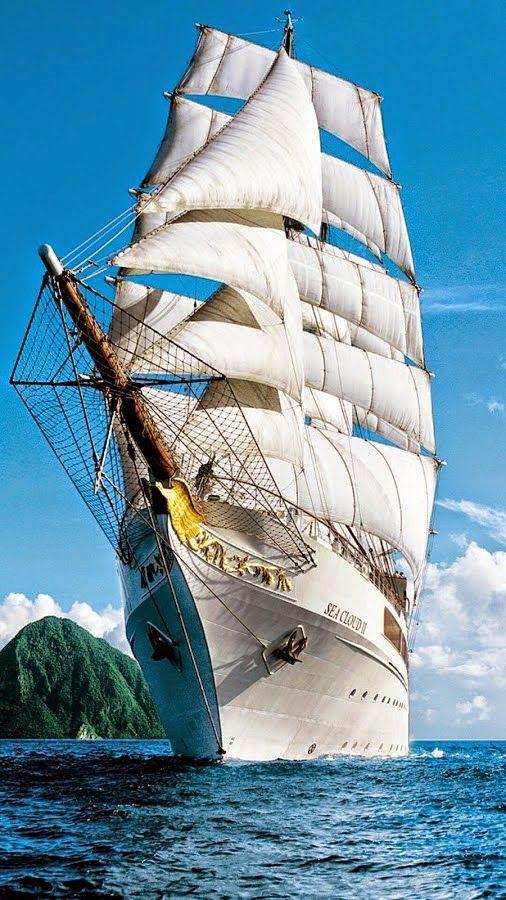 Sea Cloud II Sklep.marynistyka.org: Mosiężne Kompasy i Busole żeglarskie, Mosiężny sekstant kapitański, Stylowe lunety żeglarskie z mosiądzu, Mosiężne Dzwony okrętowe, Drewniane Koło sterowe, Mosiężne lampy żeglarskie, Telegraf Maszynowy, Mosiężny Zegar słoneczny z kompasem, Drewniane modele sławnych jachtów i żaglowców - żeglarskie prezenty, marynistyczne dekoracje, upominki dla Żeglarzy i Ludzi Morza ... Marynistyka.pl, Marynistyka.eu, Marynistyka.waw.pl