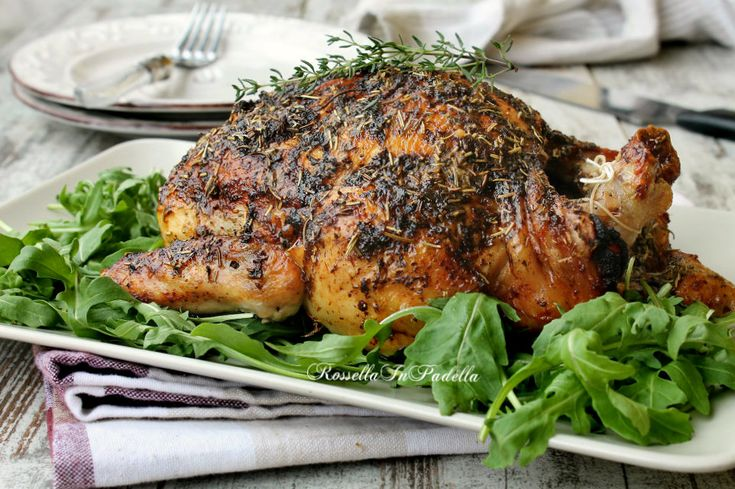 Pollo al forno, croccante fuori morbido dentro