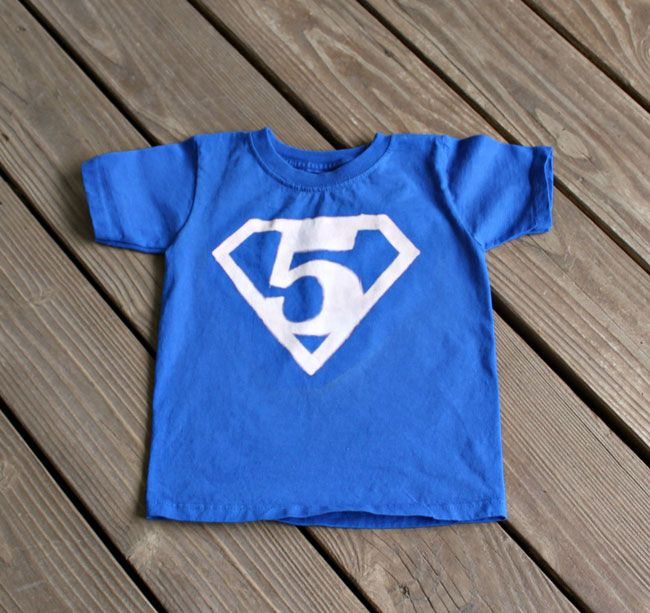 Superman Birthday Shirt