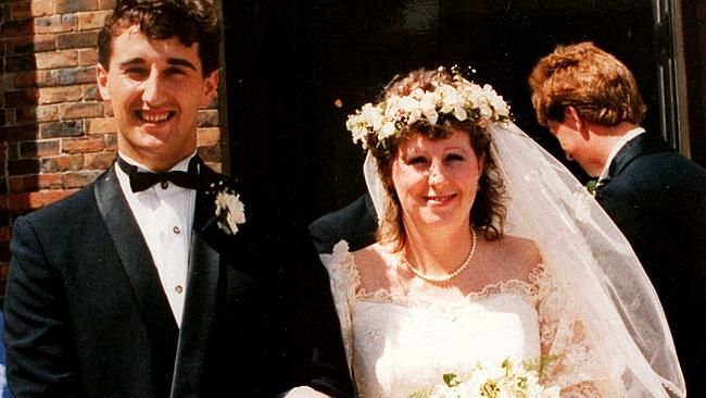 Port Arthur shooting massacre victim Nanette Mikac with husband Walter on their wedding day. The couple's two daughters, Alannah and Madeline, were also killed during the Port Arthur massacre.