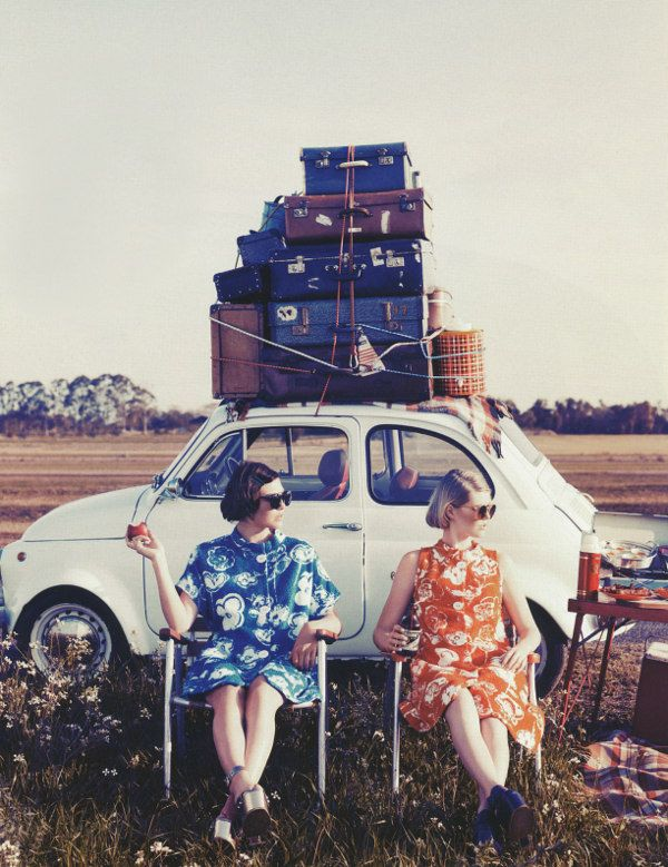 Two for the road photographed by Corrie Bond for Marie Claire Australia