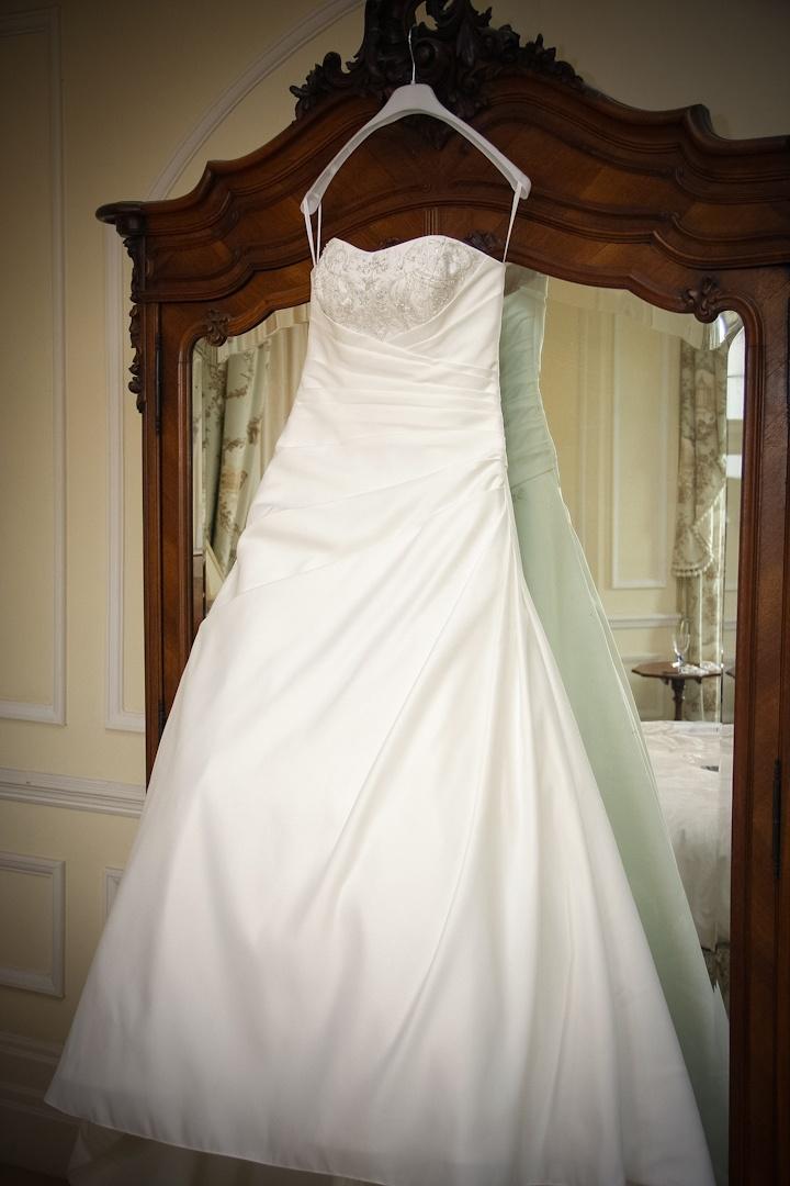 Wedding dress photographed by Kent Photographer www.davidblackshaw.com