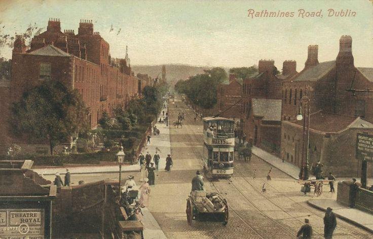 Old postcard view of Rathmines Road