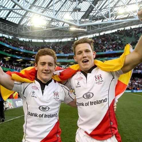 Paddy Jackson and Craig Gilroy - a true bromance.