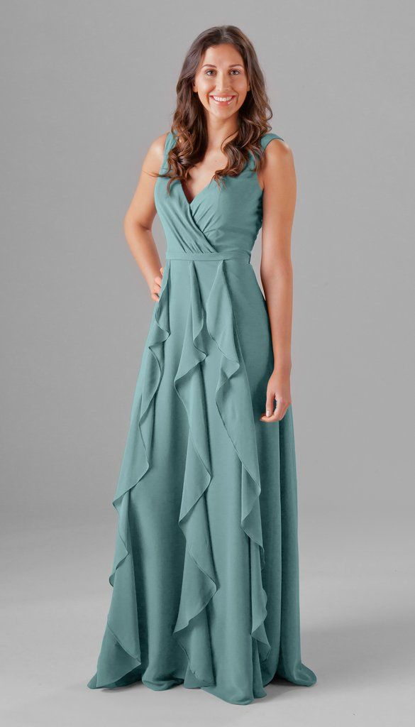 Deep Sea Blue Color On This Beautiful Boho Chic Inspired Bridesmaid Dress Perfect For A Mix And Match Bridal Party Kennedy