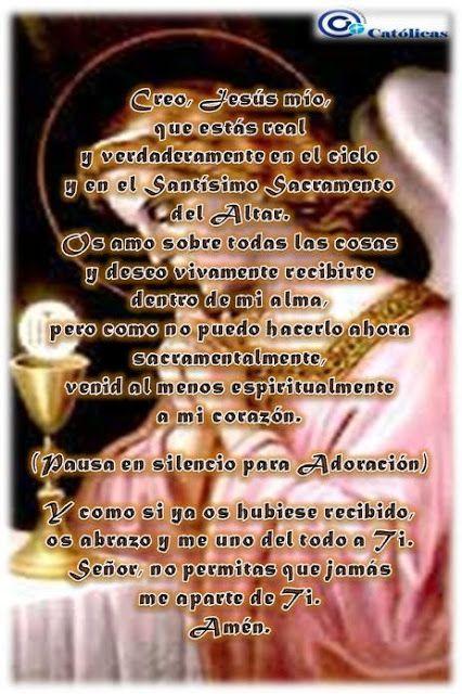Producciones Católicas: Comunión Espiritual