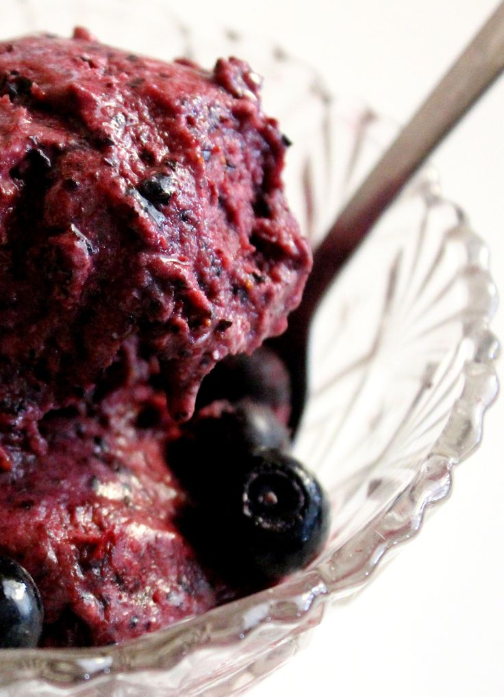 skinnymixers Instant Dairy Free Blueberry Icecream