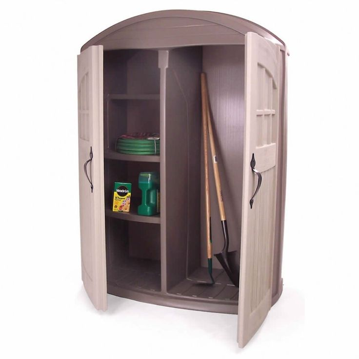 Outdoor Storage Cabinet With Shelves And Doors Rubbermaid