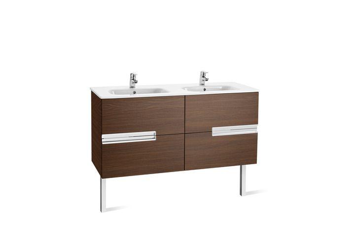 Propuesta mueble de baño principal modelo Unik (mueble base y lavabo doble) | Victoria-N | Soluciones lavabo y mueble |