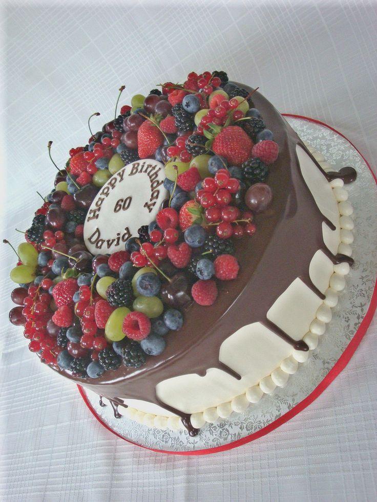 60th Birthday Cake   by springlakecake