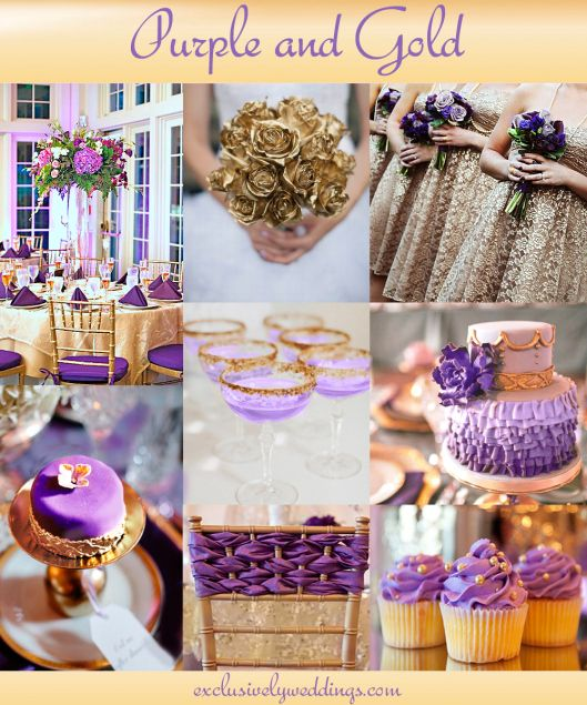 141 best images about wedding color stories on pinterest - Purple and gold color scheme ...