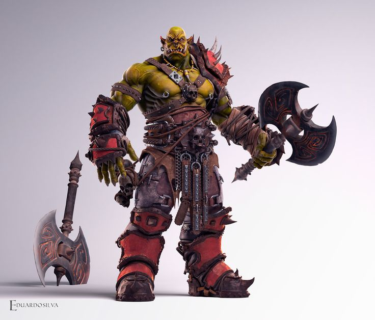 I love the blizzard design!always I had as a reference and finally made a character based on Blizzard style love orcs and decided to make one. I used the 3d max software, zbrush, Ddo and Photoshop.  I hope you like it.