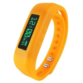 "Supersonic 0.91"""" Fitness Wristband With Bluetooth Pedometer, Calorie Counter and More-Orange"
