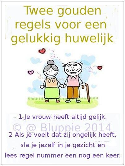 Regels voor gelukkig huwelijk