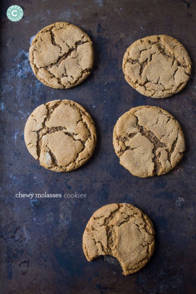 Chewy Molasses Cookies | 13 Holiday Desserts That Aren't Gingerbread