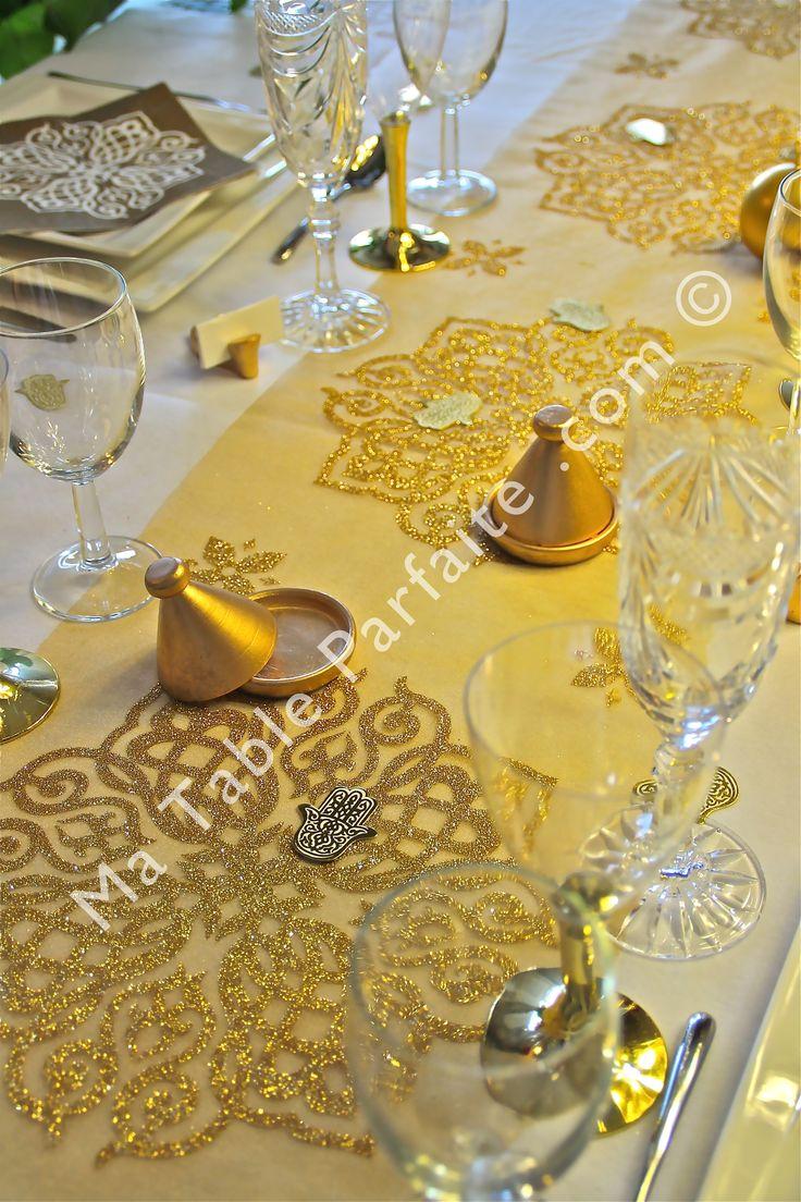 1000 id es sur le th me mariage oriental sur pinterest - Tissu pour chemin de table ...