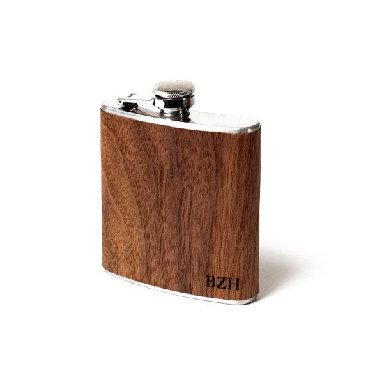 Gift for groomsman, Wood flask, unique gift husband boyfriend hipster groom father