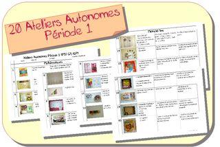 Ateliers Autonomes Période 1 MS-GS | Zaubette | Bloglovin