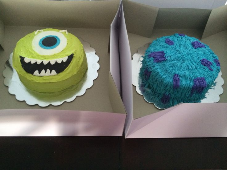 Mike and sully cakes!