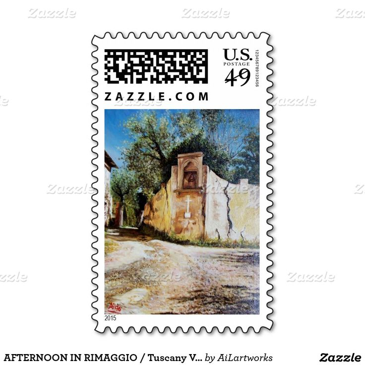 AFTERNOON IN RIMAGGIO / Tuscany View Postage