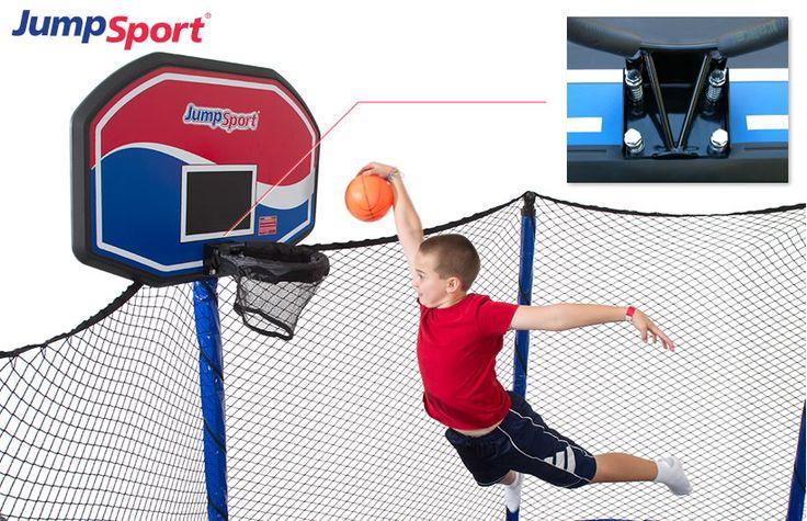 JumpSport ProFlex Trampoline Basketball Set
