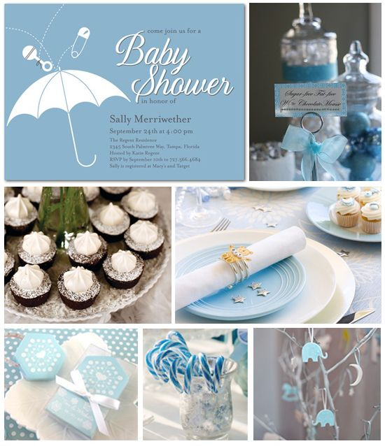 Winter Baby Shower Inspiration Board
