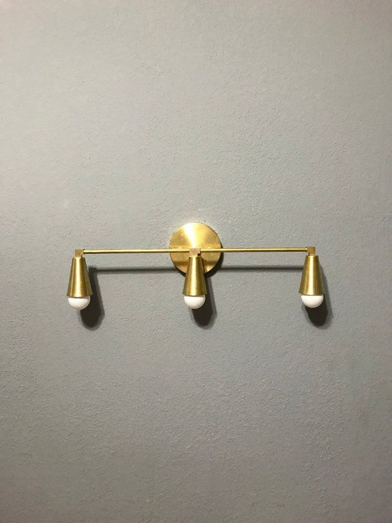 Castor Wall Sconce 3 Cone Bulb Bathroom Lighting Mid Century Modern Fixture Contemporary Vanity Light