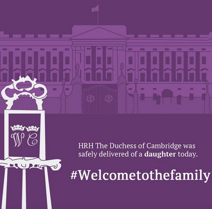 Prinses Kate bevallen: het is een prinsesje. Gefeliciteerd Kensington Palace