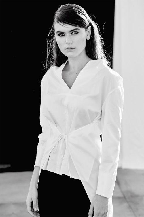 Купить БЛУЗА С ЗАВЯЗКАМИ длинный рукав из коллекции «Resort 2016» от Lesel (Лесель) российский дизайнер одежды