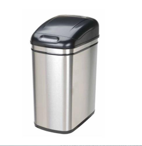 kitchen garbage can garage storage bin touchless stainless steel tras. Black Bedroom Furniture Sets. Home Design Ideas