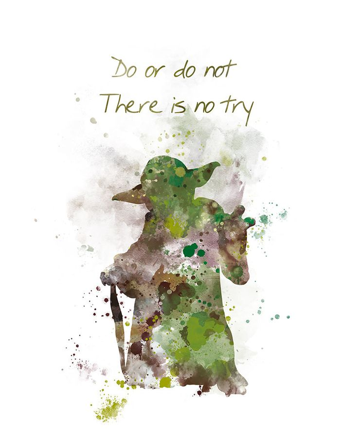 Yoda Art Print Yoda Quote Do or do not Star Wars Movie Poster Star Wars Art  Star Wars Gift Wall Art Watercolor Painting Digital Download by artsaren on Etsy
