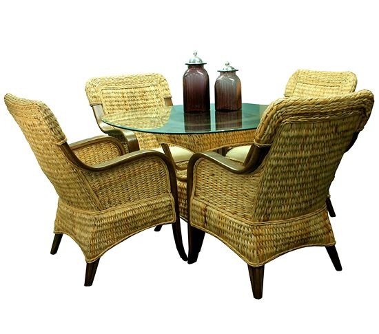 Harmony Rattan Natural Dining Suite from Summit Design | Natural Wicker Dining Furniture | americanrattan.com
