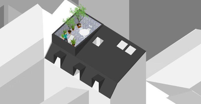 Palast /// Habiter les toits @ Paris (5 projets de surélévations d'immeubles Parisiens ; étude en cours, livraison 2015)