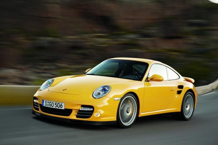 Yellow Porsche Carrera Turbo