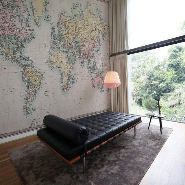 Fancy - New & Old World Map Wall Mural