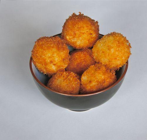 Panko Crusted Cheesy Risotto Balls Recipes Pinterest Risotto Balls And Risotto