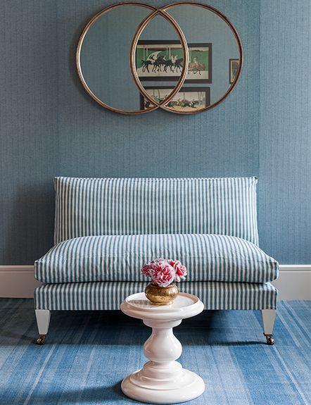 The Venn Mirror, Rampart Sofa and Halma Man Table