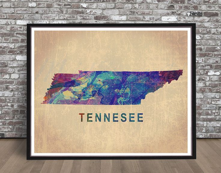 Vintage Tennessee watercolor watercolour state painting, Map, Nashville Memphis city print art, Illustration, cityscape, rainbow, TN, retro by MeiFlowerArt on Etsy https://www.etsy.com/listing/245431459/vintage-tennessee-watercolor-watercolour