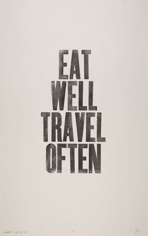 Eat well...
