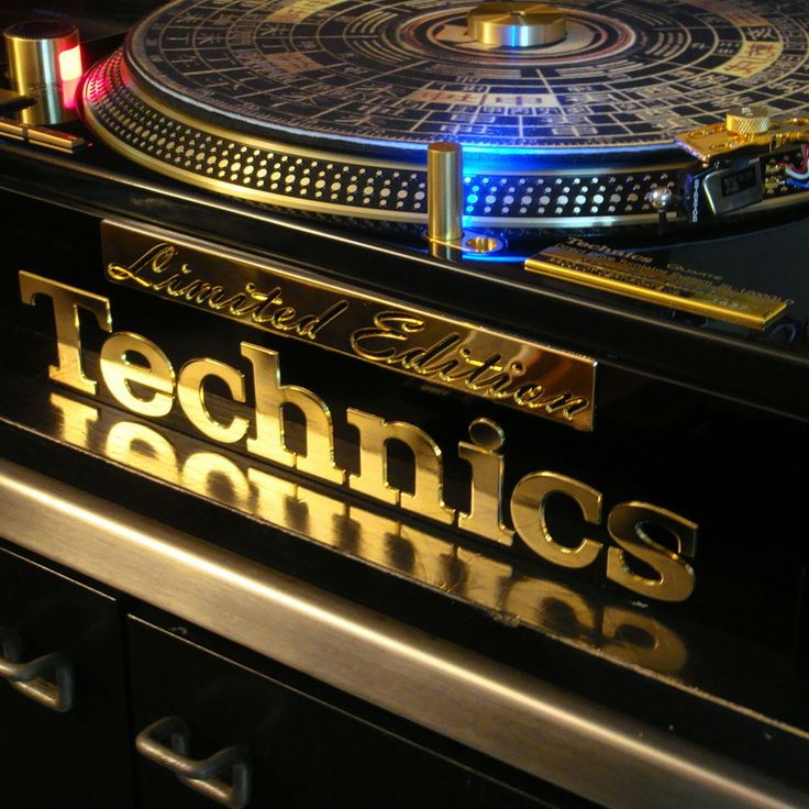 Reach For The GOLD STANDARD ___Technics 1200-LTD Turntable. 24kt Gold Detailing... 3000 made