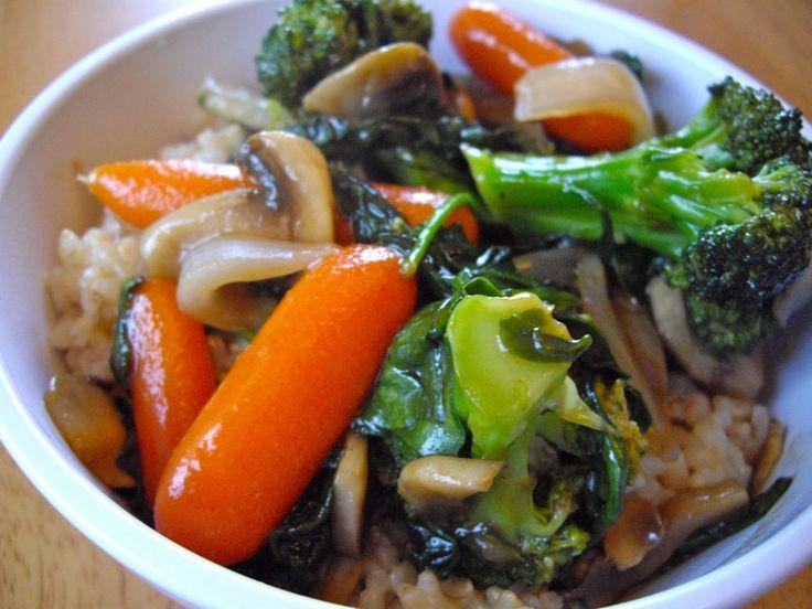 veggie stir-fry rainy day gal
